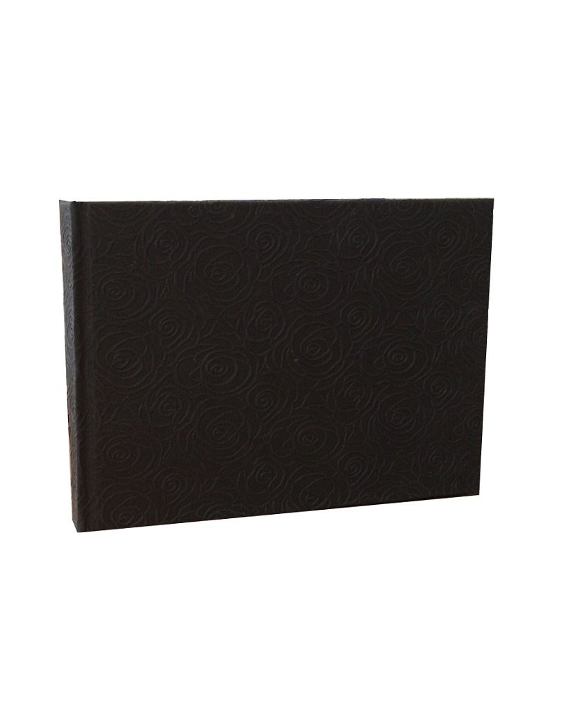 Guestbook with embossed roses