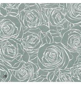 NE835 Lokta-Papier mit Rosendruck