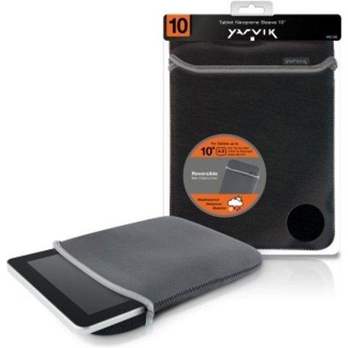 Yarvik 10 inch - universele neoprene tablet sleeve - Zwart / Grijs
