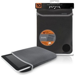 10 inch - Universal neoprene tablet sleeve - Black / Grey
