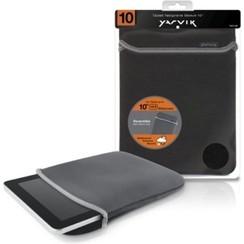 10 inch - universele neoprene tablet sleeve - Zwart / Grijs