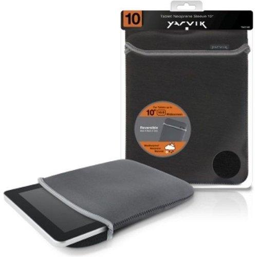 Yarvik 10 inch - Universal neoprene tablet sleeve - Black / Grey