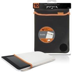 10 inch - universele neoprene tablet sleeve - Zwart / Wit