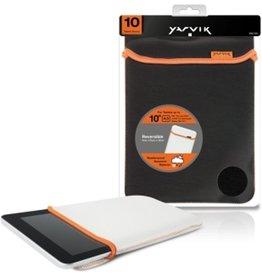 Yarvik 10 inch - Universal neoprene tablet sleeve - Black / White