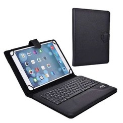 Universal 10 inch bluetooth keyboard case black