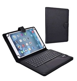 Huismerk Universal 10 inch bluetooth keyboard case black