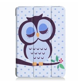 Serise iPad Air 10.5 Hoes (2019) - Tri-Fold Book Case - Owl