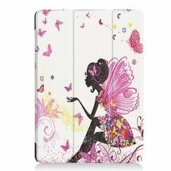 iPad Air 10.5 Hoes (2019) - Tri-Fold Book Case - Flower Fee