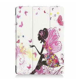 Serise iPad Air 10.5 Hoes (2019) - Tri-Fold Book Case - Flower Fee