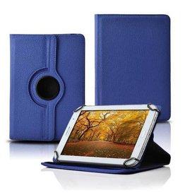 Huismerk 10 inch tablet hoes - 360 graden draaibaar - Dark Blue
