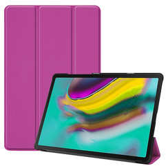 Samsung Galaxy Tab S5e hoes - Tri-Fold Book Case - Paars