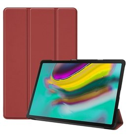 Serise Samsung Galaxy Tab S5e hoes - Tri-Fold Book Case - Donker rood