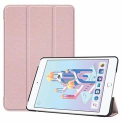 iPad Mini 2019 hoes - Tri-Fold Book Case - Rosé Goud