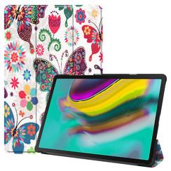 Samsung Galaxy Tab S5e hoes - Tri-Fold Book Case - Vlinders