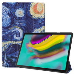 Samsung Galaxy Tab S5e hoes - Tri-Fold Book Case - Sterrenhemel