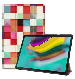 Serise Samsung Galaxy Tab S5e hoes - Tri-Fold Book Case - Blocks