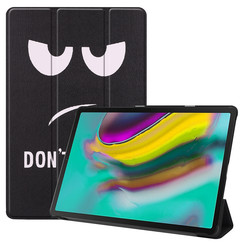 Samsung Galaxy Tab S5e hoes - Tri-Fold Book Case - Don't touch me