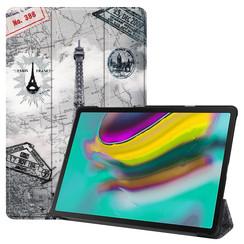 Samsung Galaxy Tab S5e hoes - Tri-Fold Book Case - Eiffeltoren