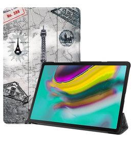 Serise Samsung Galaxy Tab S5e hoes - Tri-Fold Book Case - Eiffeltoren