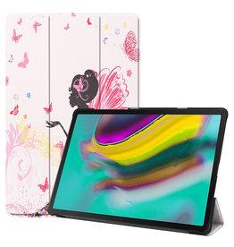Serise Samsung Galaxy Tab S5e hoes - Tri-Fold Book Case - Flower Fairy