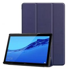 Huawei MediaPad T5 10 - Tri-fold Book Case - Donker Blauw