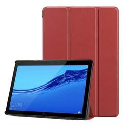 Huawei MediaPad T5 10 - Tri-fold Book Case - Donker Rood