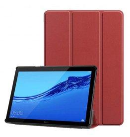 Serise Huawei MediaPad T5 10 - Tri-fold Book Case - Donker Rood