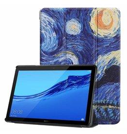 Serise Huawei MediaPad T5 10 - Tri-fold Book Case - Sterrenhemel