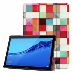 Huawei MediaPad T5 10 - Tri-fold Book Case - Blocks