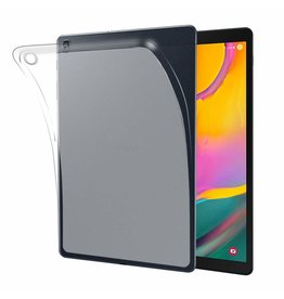 Serise Samsung Galaxy Tab A 2019 hoes - Soft TPU Back Cover - Transparant