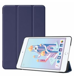 iPad Mini 2019 hoes - Tri-Fold Book Case - Donker Blauw