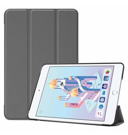 iPad Mini 2019 hoes - Tri-Fold Book Case - Grijs