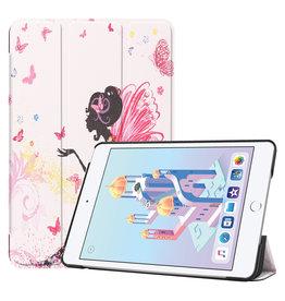 iPad Mini 2019 hoes - Tri-Fold Book Case - Flower Fairy