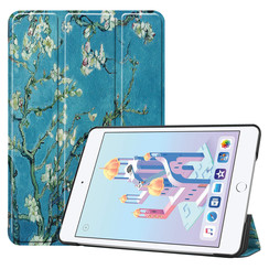 iPad Mini 2019 hoes - Tri-Fold Book Case - Witte Bloesem