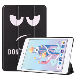 iPad Mini 2019 hoes - Tri-Fold Book Case - Don't Touch Me