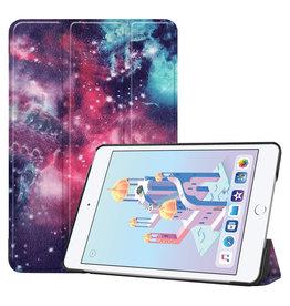 iPad Mini 2019 hoes - Tri-Fold Book Case - Galaxy