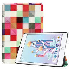iPad Mini 2019 hoes - Tri-Fold Book Case - Blocks