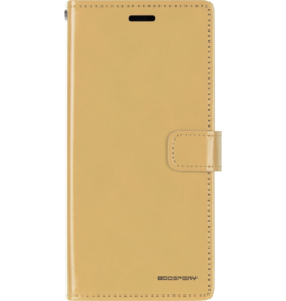 Mercury Goospery Samsung Galaxy A10 hoes - Blue Moon Diary Wallet Case - Goud