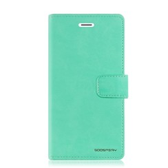 Samsung Galaxy A10 hoes - Blue Moon Diary Wallet Case - Turqouise