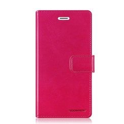 Samsung Galaxy A8 (2018) hoes - Blue Moon Diary Wallet Case  - Roze