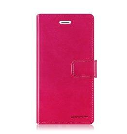 Mercury Goospery Samsung Galaxy A8 (2018) hoes - Blue Moon Diary Wallet Case  - Roze