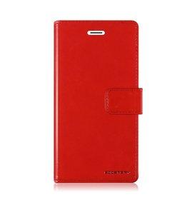 Mercury Goospery Samsung Galaxy S10 Plus hoes - Blue Moon Diary Wallet Case - Rood