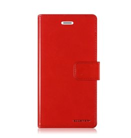 Mercury Goospery Samsung Galaxy S10e hoes - Blue Moon Diary Wallet Case - Rood