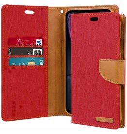 Mercury Goospery iPhone XR hoes - Mercury Canvas Diary Wallet Case - Rood