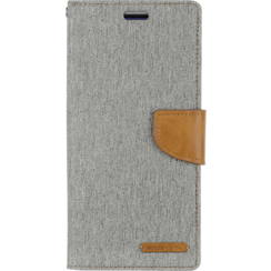 Samsung Galaxy A50 / A30S  hoes - Mercury Canvas Diary Wallet Case - Grijs