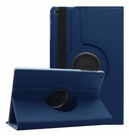Serise Samsung Galaxy Tab A 10.1 (2019) hoes - Draaibare Book Case  - Donker Blauw