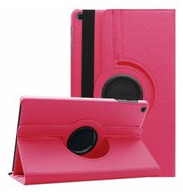 Serise Samsung Galaxy Tab A 10.1 (2019) hoes - Draaibare Book Case  - Magenta