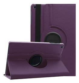 Serise Samsung Galaxy Tab A 10.1 (2019) hoes - Draaibare Book Case  - Paars