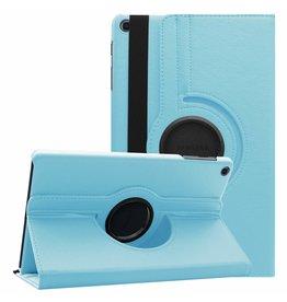 Serise Samsung Galaxy Tab A 10.1 (2019) hoes - Draaibare Book Case  - Licht Blauw