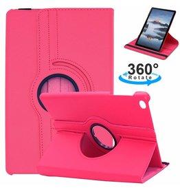 Serise Samsung Galaxy Tab S5e hoes - Draaibare Book Case - Magenta